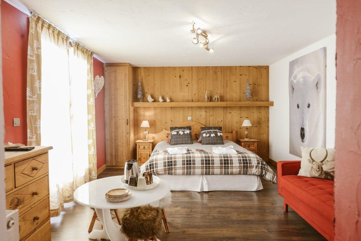 Chambre luxe: décoration montagnes Chic