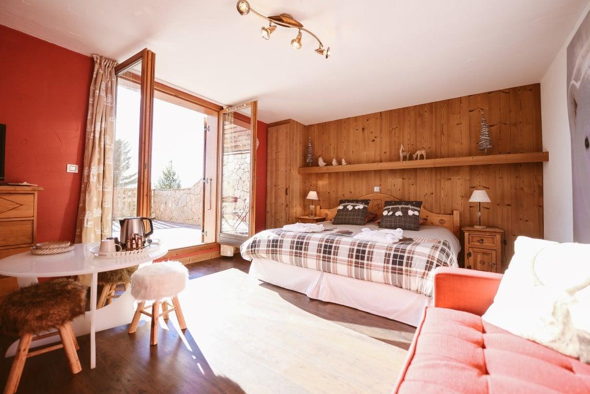 Chambre luxe: grande terrasse de 50 m² - orientée Sud